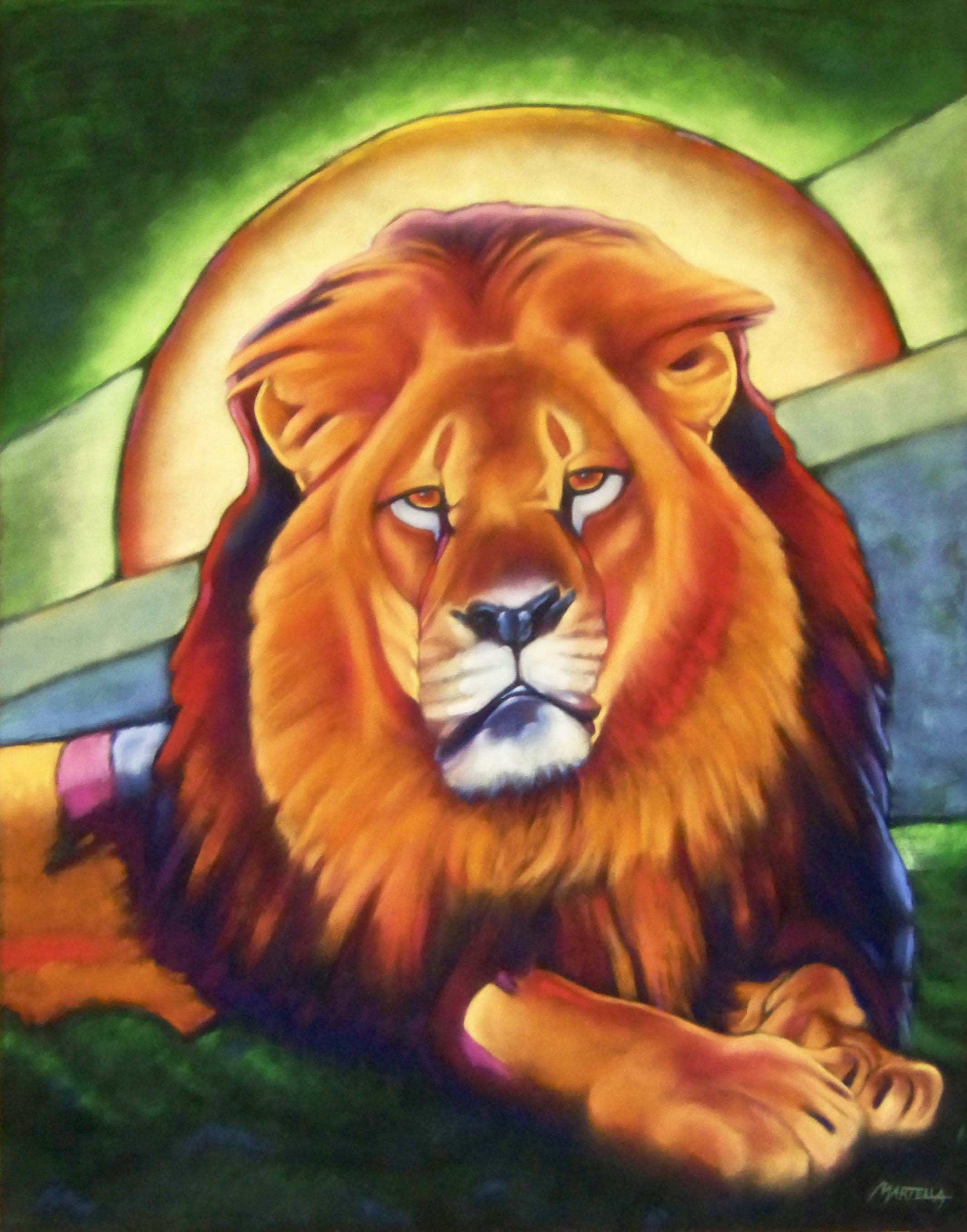Painting of Cecil by Pam Shaouy