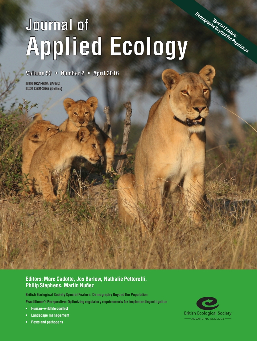 Journal of Applied Ecology cover