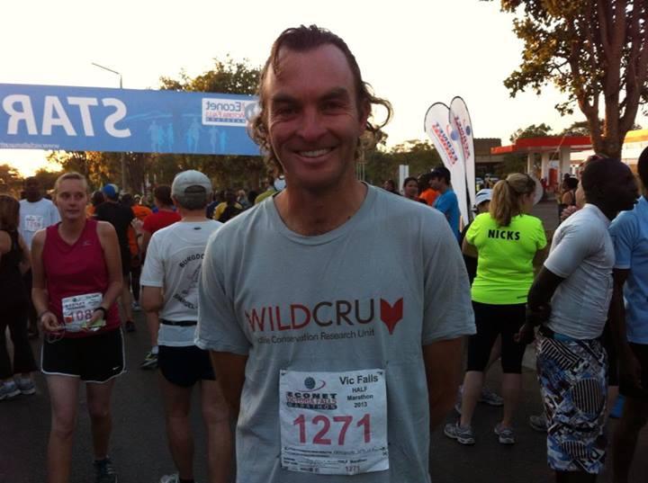 Brent Stapelkamp at Victoria Falls Half Marathon